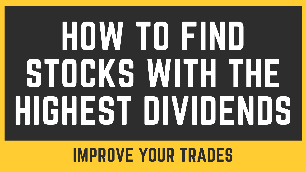 How To Find Stocks With the Highest Dividends